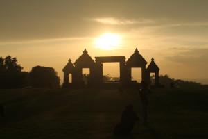 ボコの丘夕陽